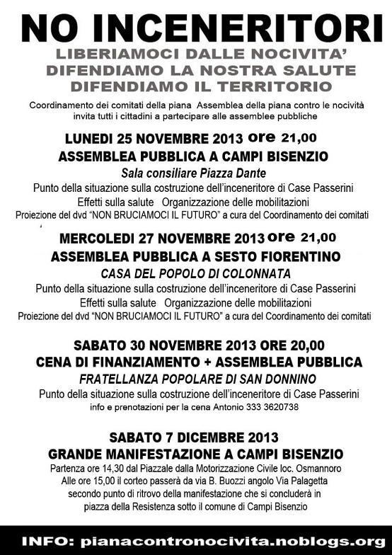 Corteo a Campi 7 Dicembre 2013