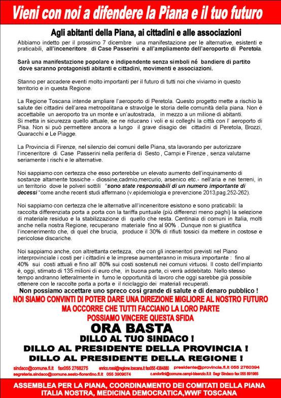 Manifestazione contro l'inceneritore di Case Passerini retro