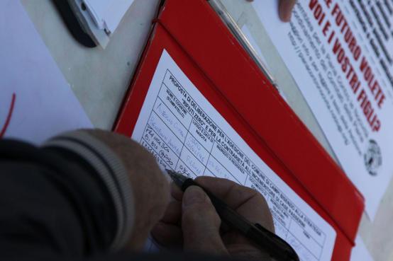 Presidio Petizione popolare consiglio comunale 30 Ottobre 2014