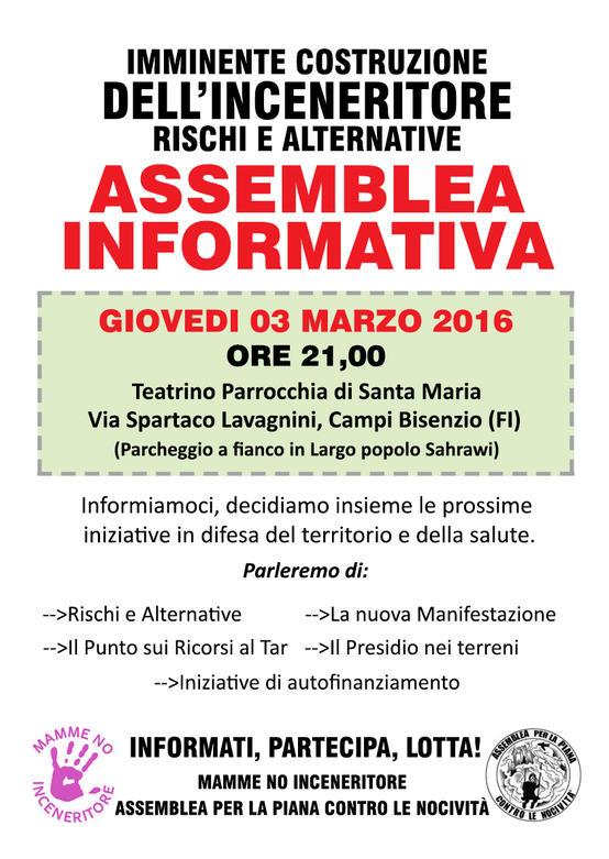 Assemblea pubblica Giovedì 3 Marzo 2016