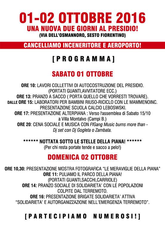 2 Giorni di iniziative al Presidio No Inc - No Aero