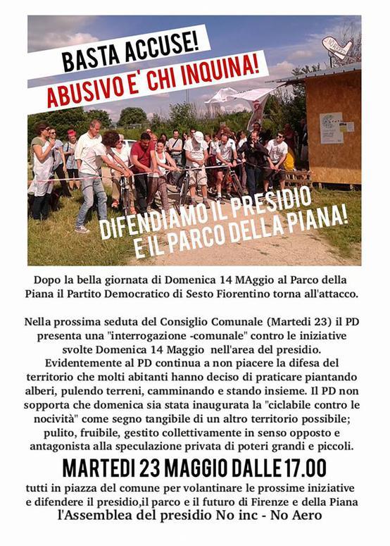 Sesto Fiorentino consiglio comunale rispondiamo al pd