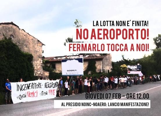 Lancio della manifestazione NO Aeroporto!