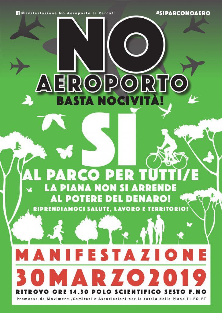 Manifestazione No Aeroporto Si Parco!
