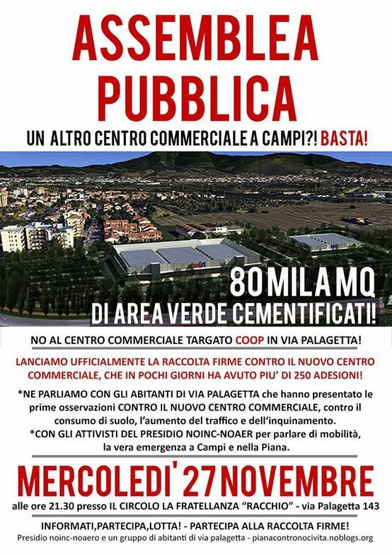 Assemblea Pubblica - No al nuovo centro commerciale!